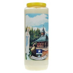 9 days candle / white /...