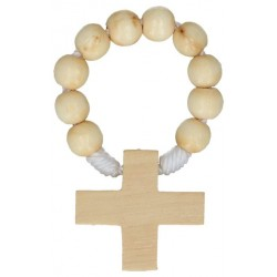 Rosary on cord  Wood Beige