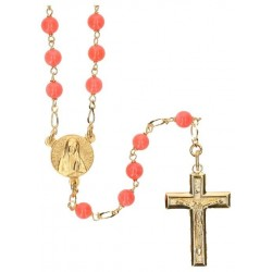 Rosary gold plated Coral...