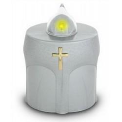 Lampe de cimetière argentée...