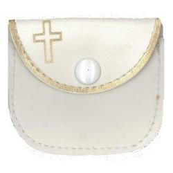 Rosary Case  White
