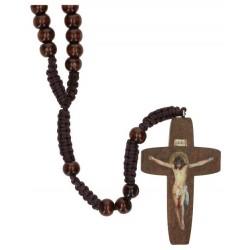 Rosary on cordWood Dark...