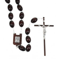 wall Wooden rosary brown,...