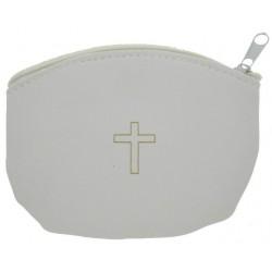 Case Rosary  White  10 X 7 cm