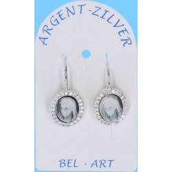 Earrings Silver Zircon Lady...