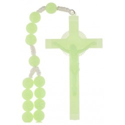 Wall Rosary on cord  Bright...