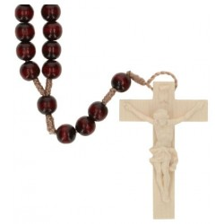 Rosary rope  Red Wood  L35 cm