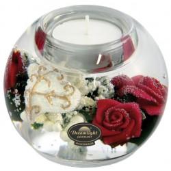 Theelichthouder Glas 09 Cm Pretty Rose